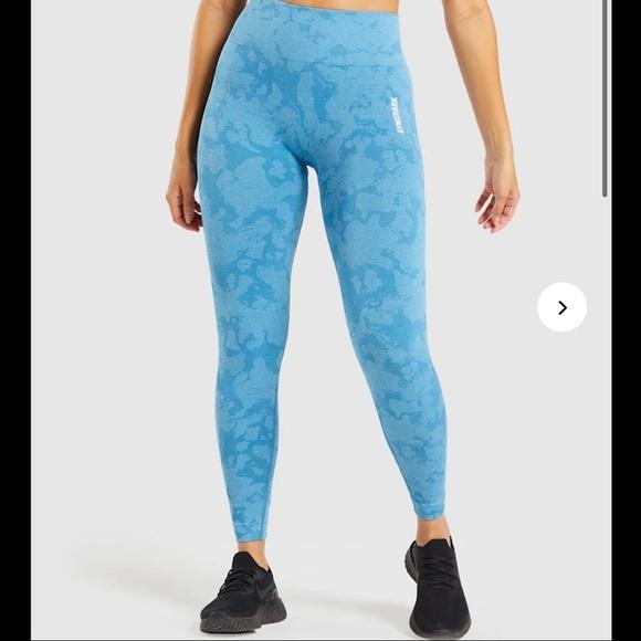 Gymshark NWT Adapt Camo Seamless Luna Blue Size Large Leggings